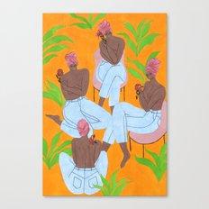 Fanm Djanm Turban Girls Canvas Print
