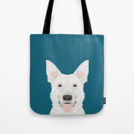 German Shepherd - White cute dog portrait Tote Bag