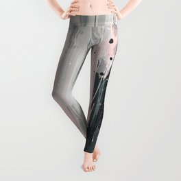 Soft Pink Abstract Leggings