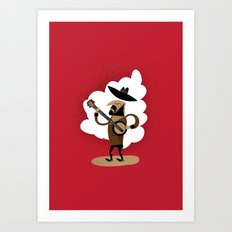 Johnny Banjo and his Banjo Art Print
