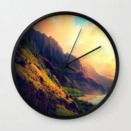 Wild Mountain Home Wall Clock