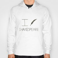 shakespeare Hoodies featuring Shakespeare by Normandie Illustration
