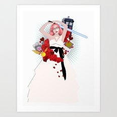 When Geeks Wed Art Print