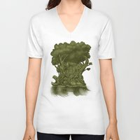 atlas V-neck T-shirts featuring Atlas by Nick Volkert