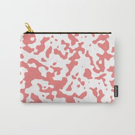 Spots - White and Coral Pink Carry-All Pouch
