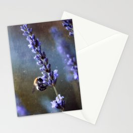Bumblebee and lavender Stationery Cards