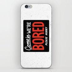 Bored iPhone & iPod Skin