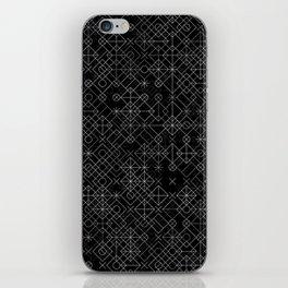 Black and White Overlap 1 iPhone Skin