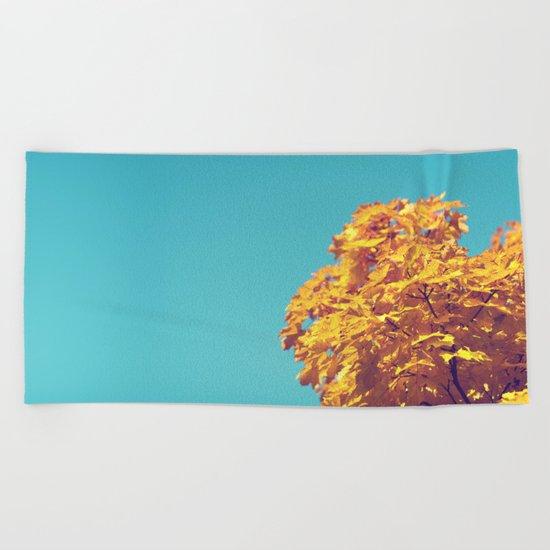 Golden Tree Beach Towel