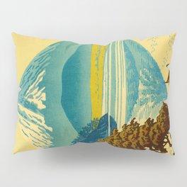 Japanese Woodblock Print Vintage Asian Art Colorful woodblock prints Mount Fuji Pillow Sham