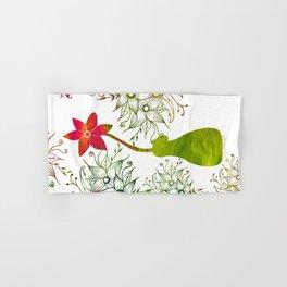 Colorful Art Flower Vase Hand & Bath Towel