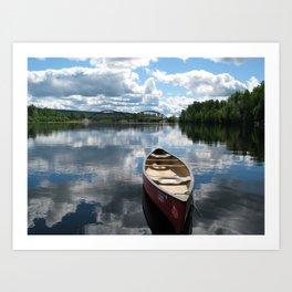 Canoe Art Print