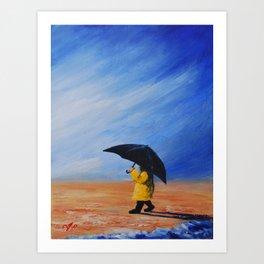 walk in the rain Art Print