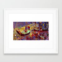 miami Framed Art Prints featuring miami by donphil