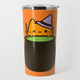 Cat bat with cauldron Travel Mug