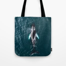 Humpback Whale in Iceland - Wildlife Photography Tote Bag