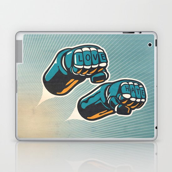 Love/Hate Laptop & iPad Skin