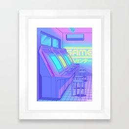 Midnight Arcade Framed Art Print