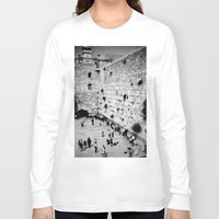 western Long Sleeve T-shirts featuring Western Wall by Emily Lewin
