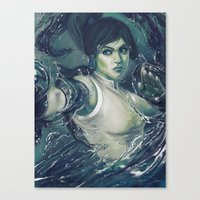korra Canvas Prints featuring Korra by MATT DEMINO