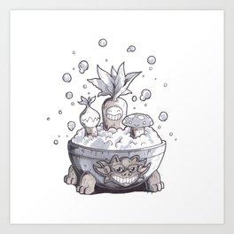 Sauna Shrubs Art Print