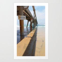 Sand Pumping Jetty Art Print