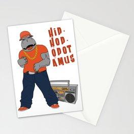 Hip-Hop-Opotamus Stationery Cards