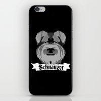 schnauzer iPhone & iPod Skins featuring Schnauzer by mailboxdisco