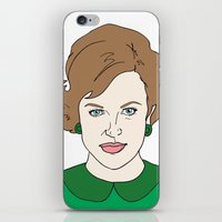 mad men iPhone & iPod Skins featuring Peggy Olson - Mad Men by Aishling K