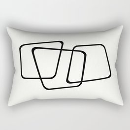 Simply Minimal - Black and white abstract Rectangular Pillow