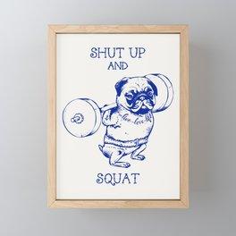Pug Squat Framed Mini Art Print