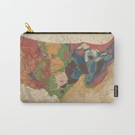 Vintage United States Geological Map (1872) Carry-All Pouch