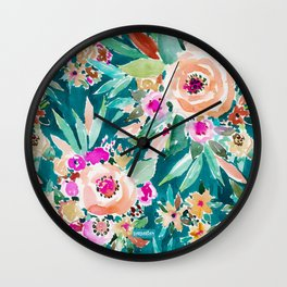 GOOD LIFE Colorful Floral Wall Clock