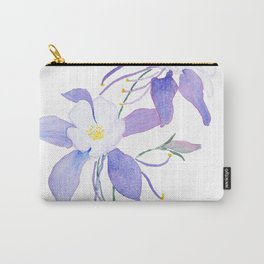 purple columbine flower Carry-All Pouch