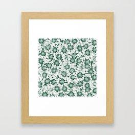 Foliage green Framed Art Print