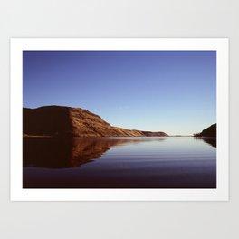 Lake Forsyth at Sunset Art Print