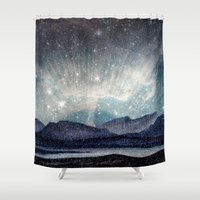 northern lights Shower Curtains featuring Northern lights by LisaB