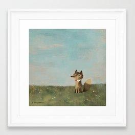 Field Fox Framed Art Print