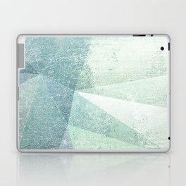 Frozen Geometry - Teal & Turquoise Laptop & iPad Skin
