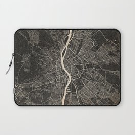 budapest map ink lines Laptop Sleeve