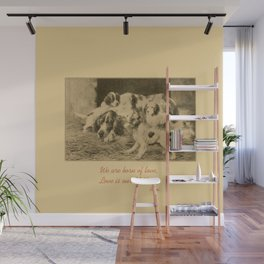 English Setter puppies & Mother's Day quote Wall Mural