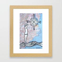 Compass Rose - Bather Framed Art Print