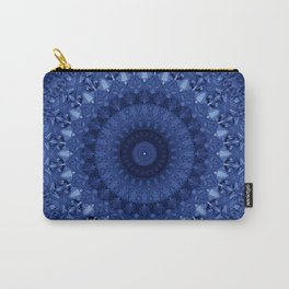 Mandala in deep blue tones Carry-All Pouch