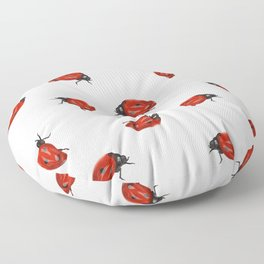 Ladybug Pattern Floor Pillow