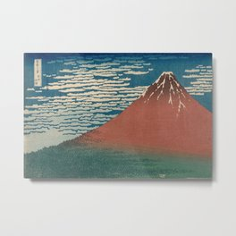 Fine Wind, Clear Weather also known as Red Fuji Metal Print