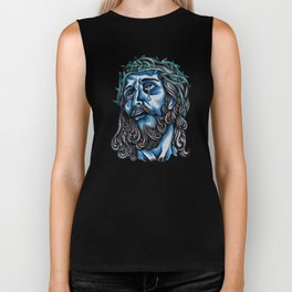 The Blue Jesus  Biker Tank