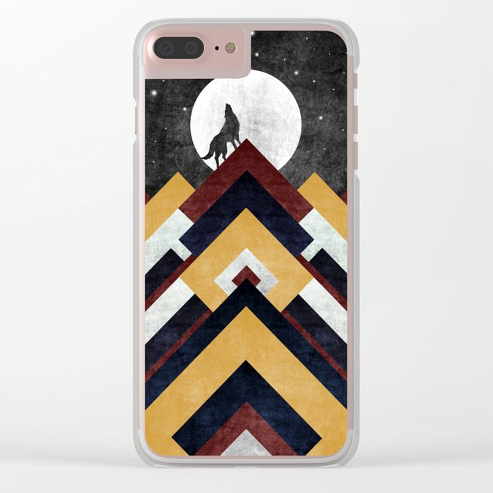 Wolf I Clear iPhone Case