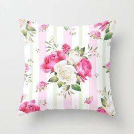 Belle époque flower power Throw Pillow