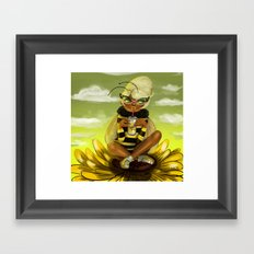 Bug Girls: Bee snack break Framed Art Print