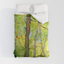 Woodland Walk Watercolour Comforters